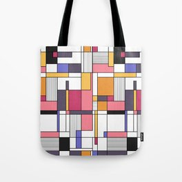 Abstract colored shapes and forms Tote Bag