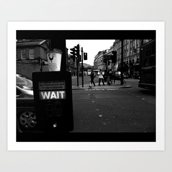 Pedestrians Wait Art Print