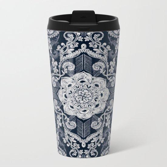 Centered Lace - Dark Metal Travel Mug