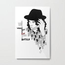 Jack White Cuts Like a Buffalo Metal Print