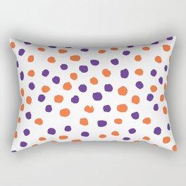 Orange and purple clemson polka dots university college alumni football fan gifts Rectangular Pillow