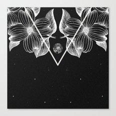 BLACK FLORA Canvas Print