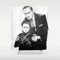 edward scissorhands Shower Curtains featuring Edward Scissorhands  by moomoney