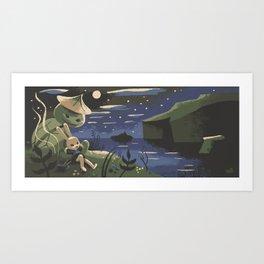 Takumi And Susumu Art Print