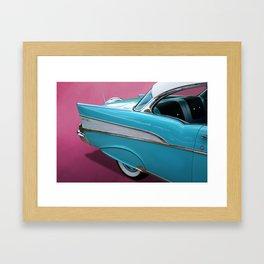 Turquoise 1957 Chevrolet Bel Air Framed Art Print