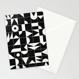 My Favorite Geometric Patterns No.18 - Black Stationery Cards