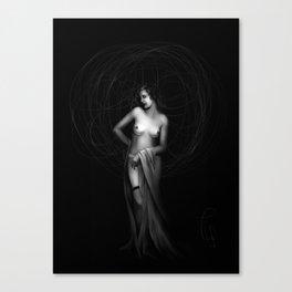 Vintage nude III. Canvas Print