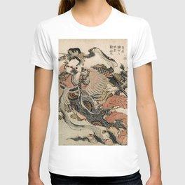 Hokusai, Aspara and the flute – musician manga, japan,hokusai,japanese,北斎,ミュージシャン T-shirt