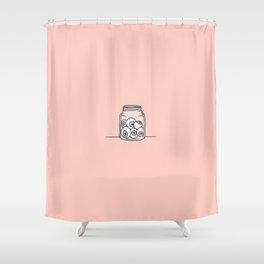 Inktober Day 6 - Six Eyeballs Shower Curtain
