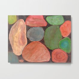 Lovely colorful Stones on dark Background Metal Print