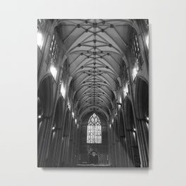 Black & White Cathedral Ceiling Metal Print