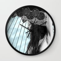 faith Wall Clocks featuring Faith by Thömas McMahon