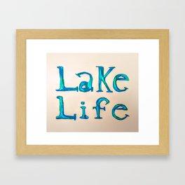 Lake Life Framed Art Print