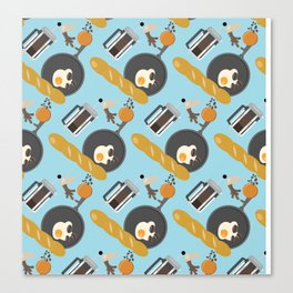 Breakfast Pattern #2 Canvas Print