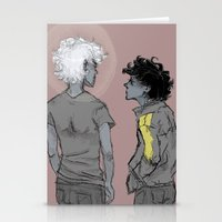 grantaire Stationery Cards featuring Enjolras and Grantaire by icarusdrunk