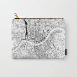 Cincinnati White Map Carry-All Pouch