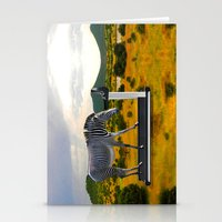 fitness Stationery Cards featuring Fitness Zebra by Bemular