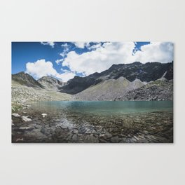 Blue Alpine Lake in Austria Canvas Print