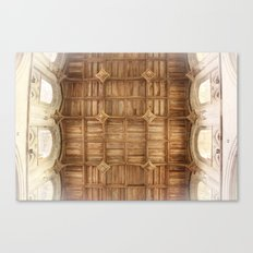 Wooden church ceiling  Canvas Print