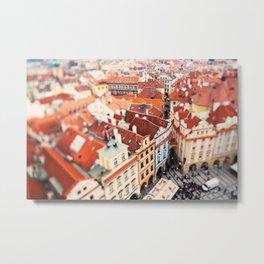 Red Roof Prague Metal Print