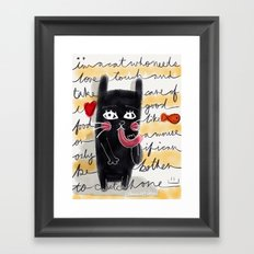 A Cat's Thoughts Framed Art Print