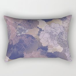 LAVENDER FLORAL HUES Rectangular Pillow