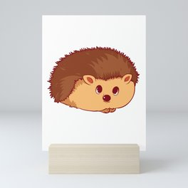 Hedgehogs, Why Don't They Just Share The Hedge? Mini Art Print