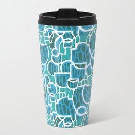 Bubbles Blue Travel Mug