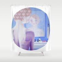 bathroom Shower Curtains featuring Teenage Bathroom Feels by Hayley Dawn Muir