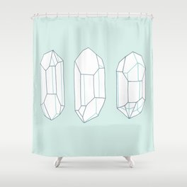 Three Lucky Crystals Shower Curtain