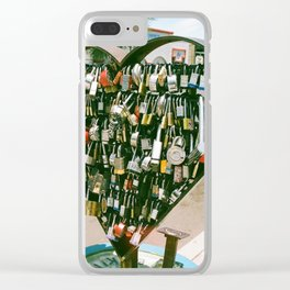 Where's the Key to your Heart? Clear iPhone Case