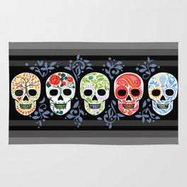 Sugar Skulls_Celebracion del Color line_Calaveras_RobinPickens Rug