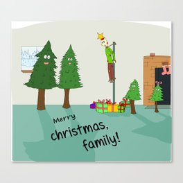 Merry Christmas family Canvas Print