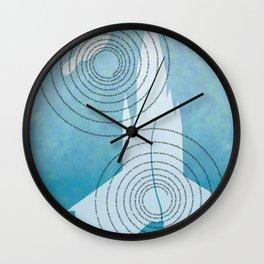 Sawdust and Diamonds Wall Clock