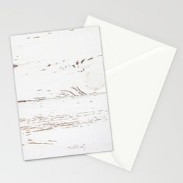 Vintage White Wood Stationery Cards