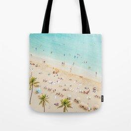 Waikiki beach in Hawaiian summer. Tote Bag