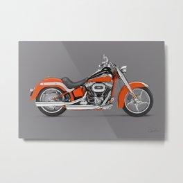 2010 Harley Davidson FLSTSE CVO Softail Convertible Metal Print