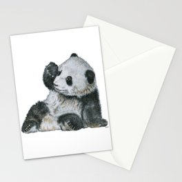 Exhausted Panta Bear Stationery Cards