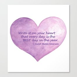 Heart Quote Canvas Print