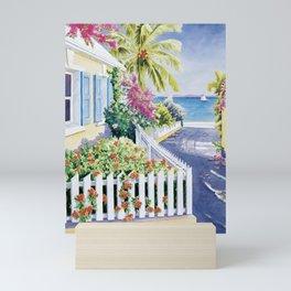 Blue Shutters Mini Art Print