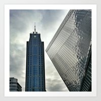 buildings Art Prints featuring Buildings by gm8ty