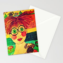 """""""Tallulah and Georgia's Happy Place"""" Stationery Cards"""