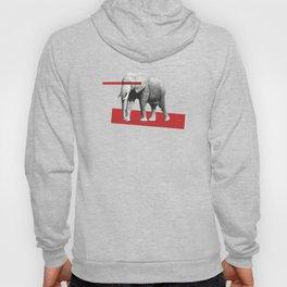 elephant behind bars Hoody