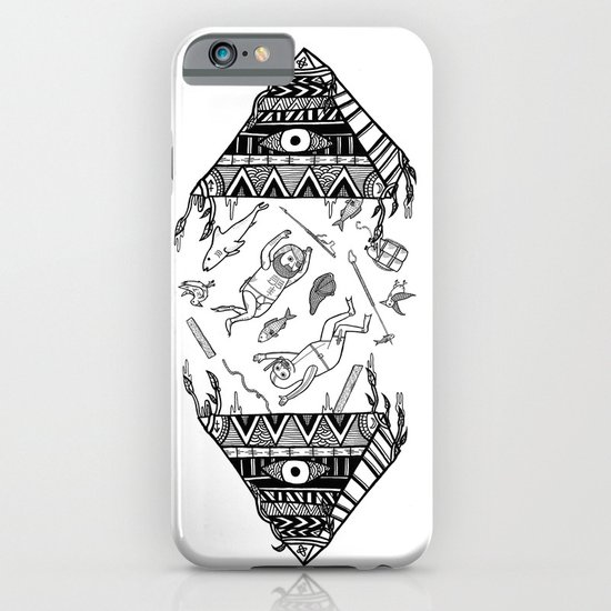 On how the mystical levitation of divers are induced by floating pyramids iPhone & iPod Case