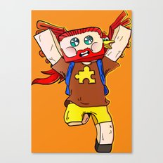 Getting jiggy with it - Minecraft Avatar Canvas Print