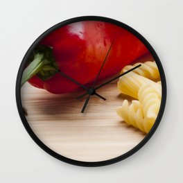 Italian pasta and red pepper Wall Clock