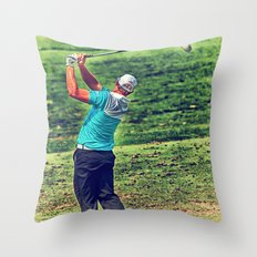 The Golf Swing Throw Pillow