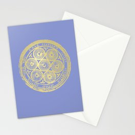 flower power: variations in periwinkle & gold Stationery Cards