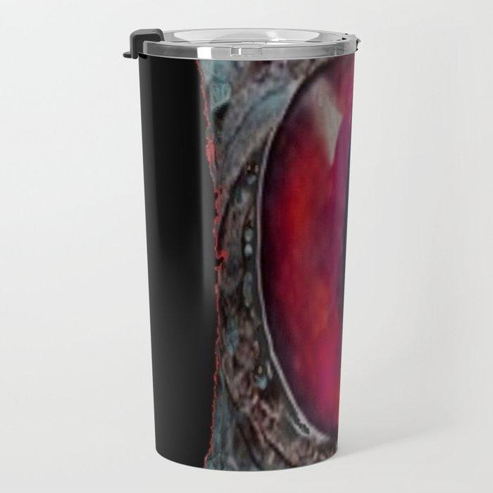 Eye of The Dragon Jewel in Black Travel Mug