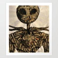 jack skellington Art Prints featuring jack skellington by TwistedPalace
